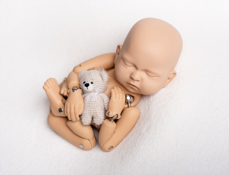 Toy of newborn baby for photo practice Banque d'images - 118817130