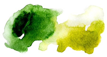 Green and yellow abstractive drawing