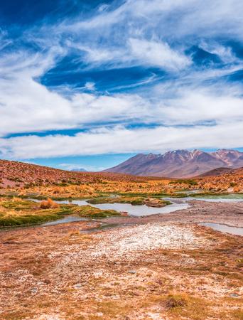 Lagoon landscape in Bolivia