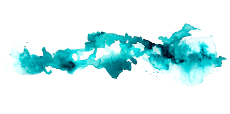 Blue watercolor ink spot picture Banco de Imagens