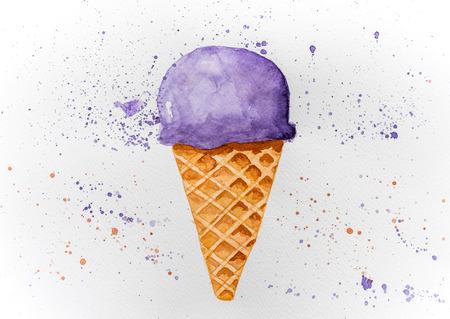 Picture of drawn ice cream Banco de Imagens - 121237591