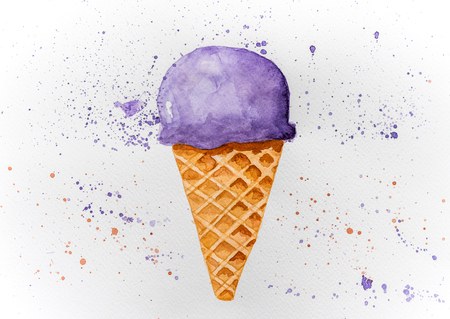 Picture of drawn ice cream Stock Photo