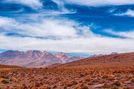Mountain in the spacious Bolivian desert
