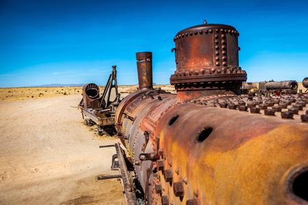 Cemetery of abandoned trains, Uyuni, Bolivia