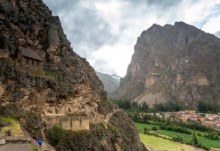 The village near to Cusco, Peru Stock Photo