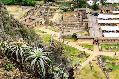 Top view of village Ollantaytambo