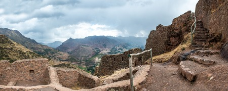 Old citadel of Incas, Pisac, Peru Stock Photo