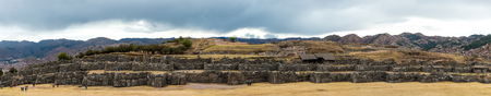 Ruined castle Saksaywaman in Peru 스톡 콘텐츠 - 124175209
