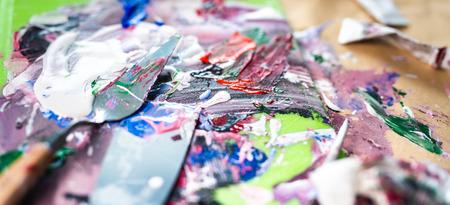 Fragment of oil artwork, soft focus Stockfoto