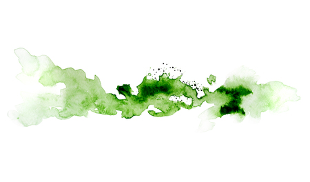 Green watercolor ink spot picture