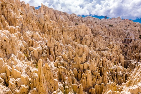 The Valley of the Moon, Bolivia 스톡 콘텐츠 - 124175128