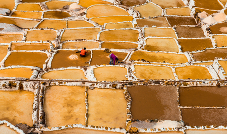 Salinas de Maras Stockfoto