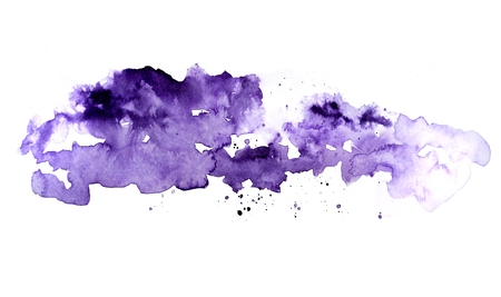 Violet watercolor ink spot picture 스톡 콘텐츠 - 124175115