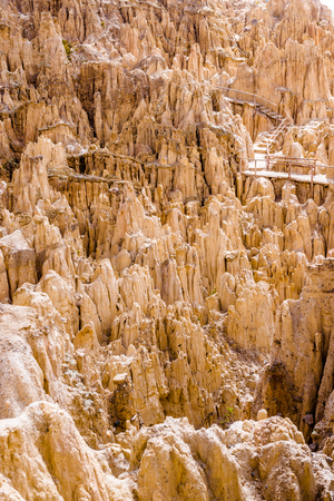 Mountain path in Moon Valley, Bolivia 스톡 콘텐츠 - 124175123