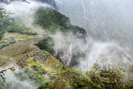 Aerial view of Machu Picchu 스톡 콘텐츠 - 124175076