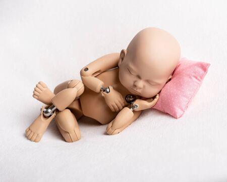 Doll of newborn for photo practicing Reklamní fotografie