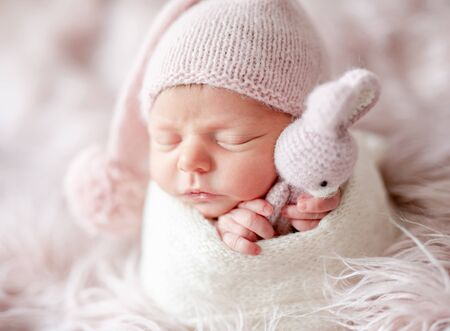 cute sleepy newborn baby