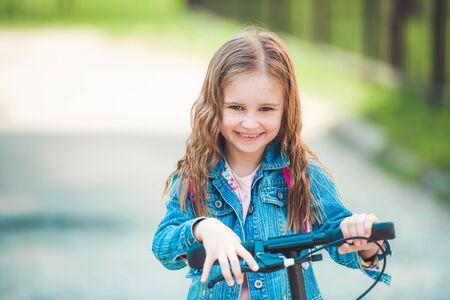 Kid enjoying ride in the park