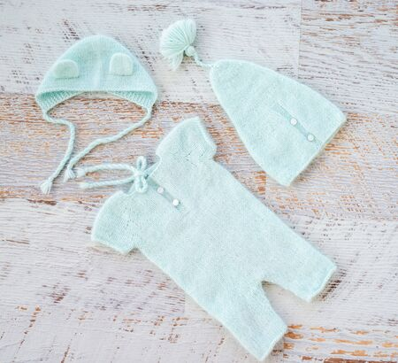 Lovely newborn clothing for photo shoots handmade. topview