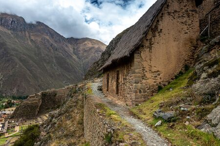 Old stoney house in Ollantaytambo 写真素材