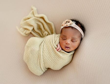 Baby girl sleeping calm Stockfoto