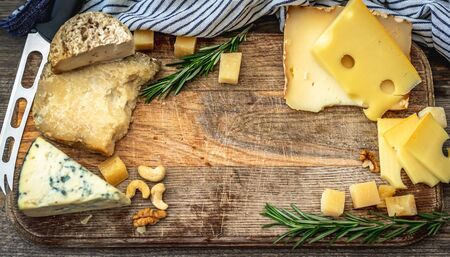Tasty cheese assortment 免版税图像
