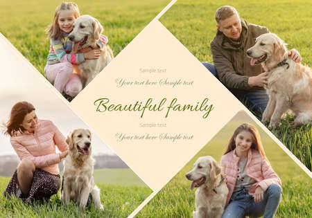 Beautiful family having fun
