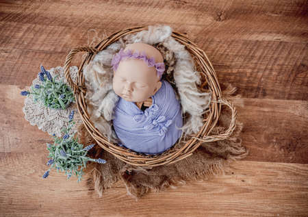Newborn photo session 스톡 콘텐츠