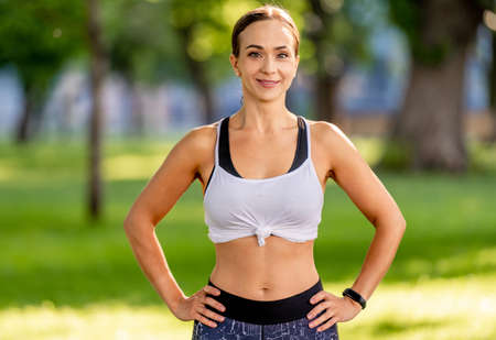 Yoga girl portrait