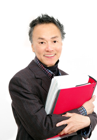 man in business suit and folder
