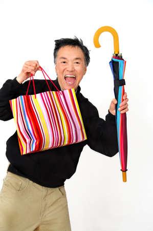 happy man shopping  Stock Photo