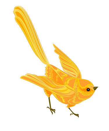 chickadee: Gold bird in flight
