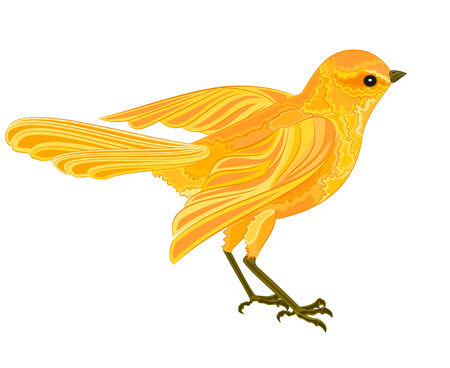 loveable: Gold bird in flight vector illustration without gradients  Illustration