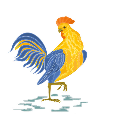 Rooster vector illustration eps 8  without gradients Vectores