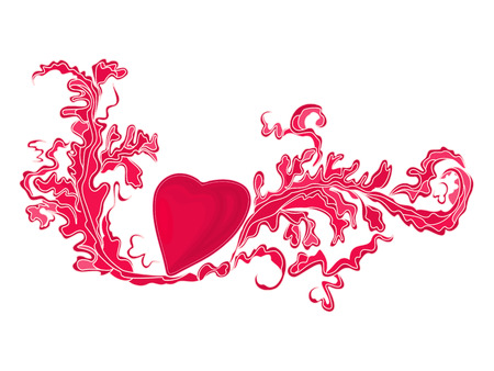 Heart and floral ornaments vintage  vector illustration eps8 Vector