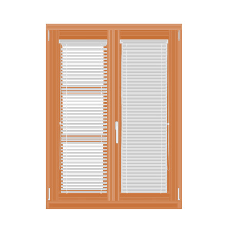without window: Window and blinds vector illustration without gradients