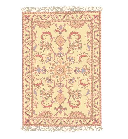 carpet texture: 0riental carpet antique illustration without gradients
