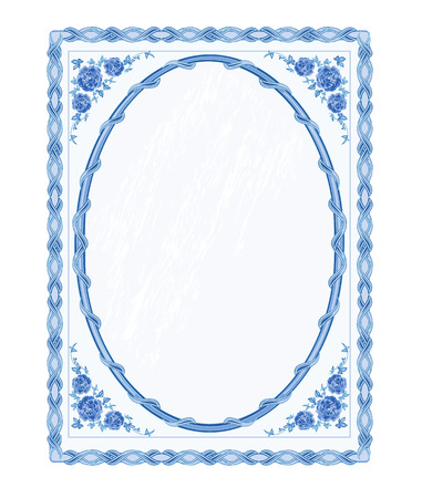 faience: Mirror frame faience vintage style