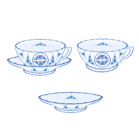 faience: Cup faience part of porcelain without gradients