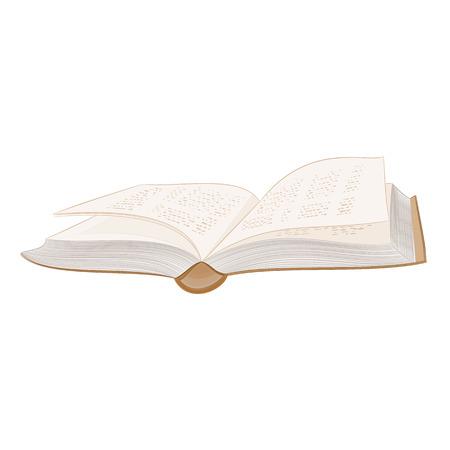 hardcover: Book open hardcover vector illustration