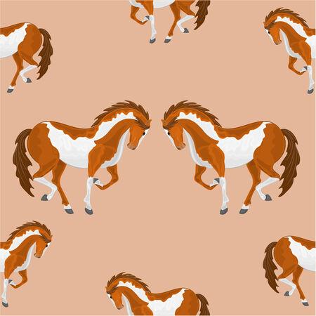 piebald: Seamless  texture piebald horse vector vector illustration