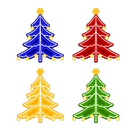 trimmings: Christmas trimmings Christmas tree faience vintage Illustration