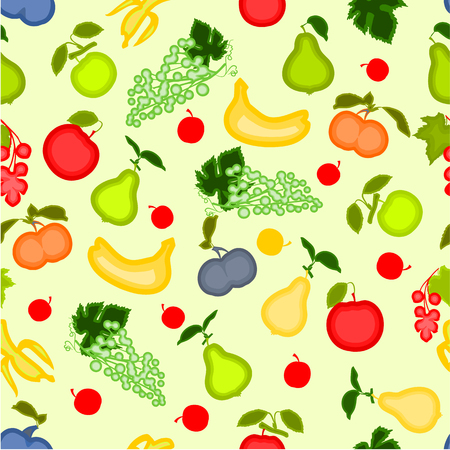 healthy nutrition: Seamless texture various fruits healthy nutrition vector illustration