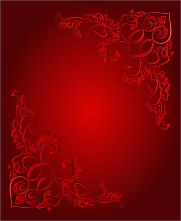 heart tone: Heart vintage price tag red background  Valentines day  mothers day vector illustration