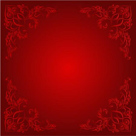 heart tone: Coraz�n del vintage etiqueta de precio rojo lugar fondo para el texto de San Valent�n d�a de madres ilustraci�n del vector del d�a