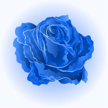 Blauwe roos mooie roos eenvoudige symbool van liefde vector illustratie