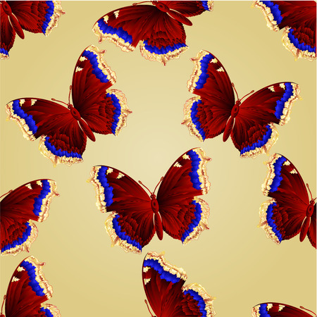 nymphalis: Seamless texture butterfly Nymphalis antiopa beautiful mountain butterfly vector illustration