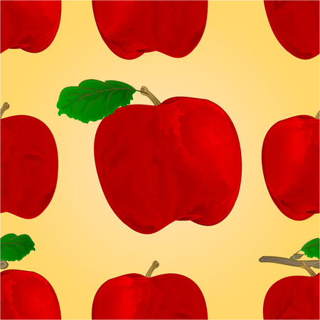 red apple: Seamless texture red apple fruit healthy lifestyle vector illustration Illustration