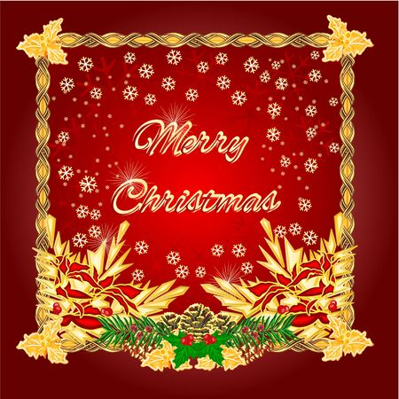 christmas backgrounds: Merry Christmas  happy red backgrounds Vector illustration