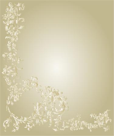 floral patterns: Decorative ornamental floral page  vintage  gold color vector illustration Illustration